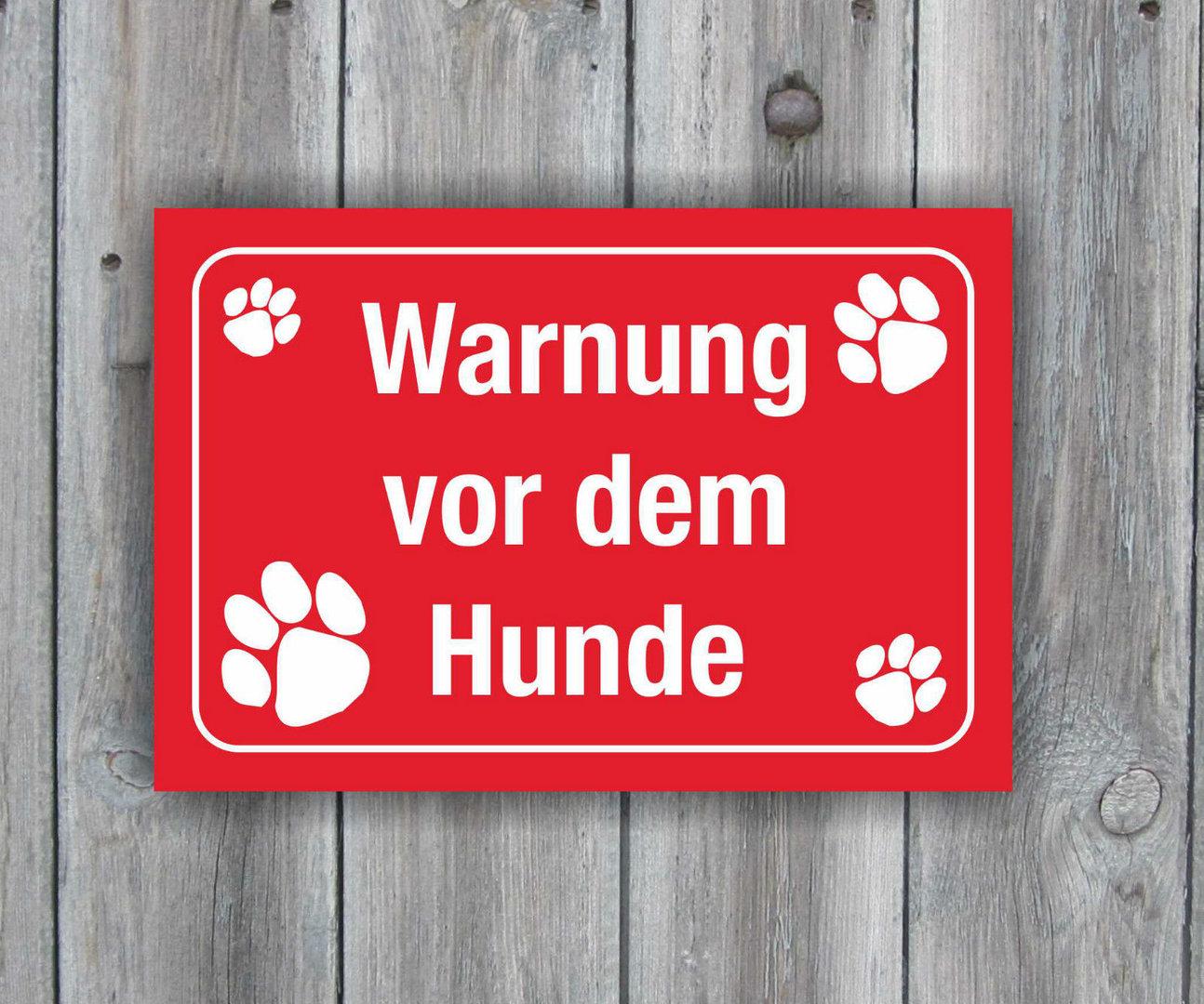 hinweisschild warnung vorsicht hunde 25cm x 17cm warnschild. Black Bedroom Furniture Sets. Home Design Ideas