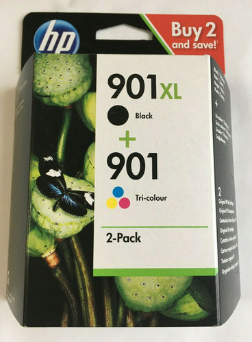 HP 901 XL + 901 Original Multipack schwarz farbig Tri Colour black Patrone Combo